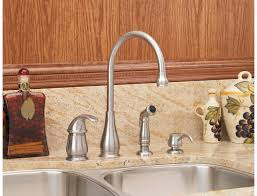 Single Handle Kitchen Faucet With Side Spray by Pfister Lg26 4dss Treviso Single Handle Kitchen Faucet With Side