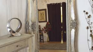 Bevelled Floor Mirror by Mirror Como Silver Framed Ornate Bevelled Mirror 6 Sizes Click