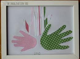 handprint flower card and framed art the imagination tree