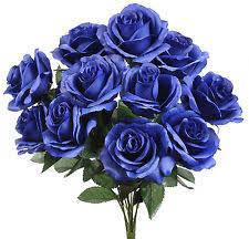 wedding flowers royal blue 12 baby s breath royal blue gypsophila silk wedding flowers
