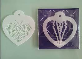 online shop new arrival fondant stencil wedding candy decor cookie