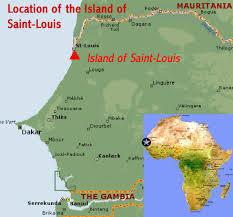 africa map senegal island of louis senegal world heritage
