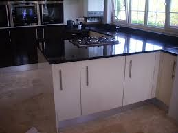excellent black color high gloss kitchen cabinets with brown color