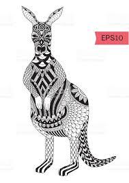 kangaroo coloring page stock vector art 494949564 istock