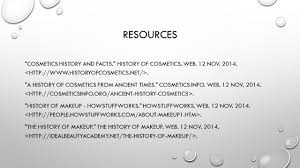 history of cosmetics by erica farfan ppt video online download