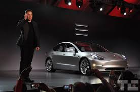 tesla unveils 35 000 model 3 electric car shipping late 2017