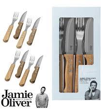 oliver kitchen knives jumbo steak knife set of 8 knives fork cutlery