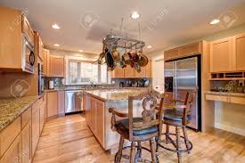 kitchen with light maple cabinets light perfectly designed kitchen with granite counters maple