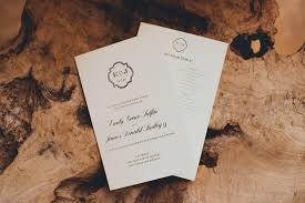 wedding program paper stock wedding programs grace paperie