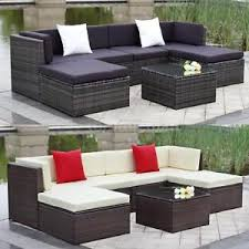 wicker outdoor sofa outdoor cushioned wicker patio set garden lawn sofa furniture seat