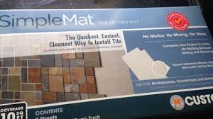simple mat review and back splash youtube