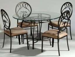 Rod Iron Dining Room Set Glass Top Wrought Iron Dining Table Foter