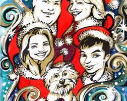 family caricature etsy