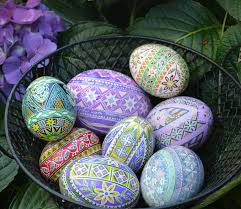ukrainian easter egg supplies goose pisanka egg with whimsical flowers ukrainian easter egg
