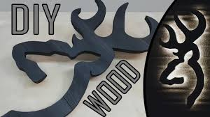 Browning Wall Decor Diy Wood Browning Deer With Usb Led Backlit Youtube