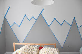 how to paint a diy mountain mural no art skills required the