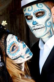 Dead Halloween Costumes Sugar Skulls Couple Halloween Costume Image 2189623
