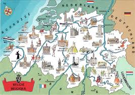 map of begium large detailed tourist illustrated map of belgium belgium