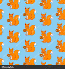 squirrel wrapping paper squirrel with walnut in paws sitting on colorful