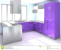modern purple kitchen stock images image 9065924