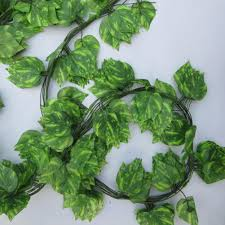 2m artificial ivy leaf garland plants vine fake foliage flowers