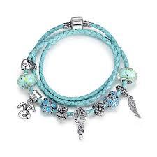 necklace pandora style images Alice in wonderland cerulean blue pandora style leather bracelet jpg