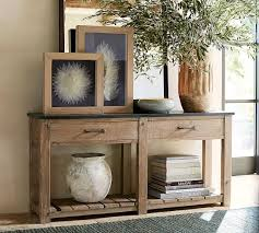 parker reclaimed wood console table pottery barn