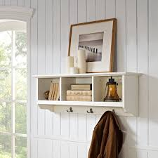 crosley brennan entryway storage shelf mahogany hayneedle