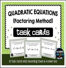 free math lesson u201cquadratic equations task cards solving by