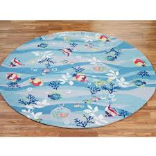 Round Bathroom Rug by Tropical Fish Area Rugs