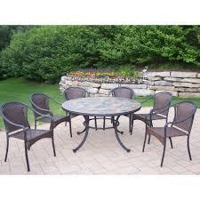Round Wicker Patio Dining Set - cast iron round patio dining sets patio dining furniture