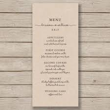 rustic wedding menu template printable wedding menu editable