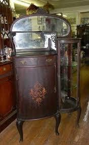 Antique Curio Cabinet With Desk Mahogany Curio Cabinets Foter