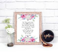 Scripture Wall Art Home Decor by Isaiah Quote Wall Art Home Decor Bible Quotes Bible Wall Art