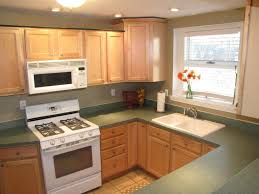 Kitchen With White Appliances by Kitchen Light Brown Thomasville Kitchen Cabinet With White Marble