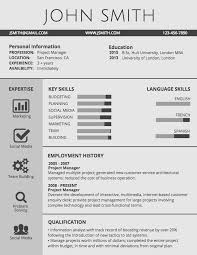 Interactive Resume Template Infographic Resume Template Venngage