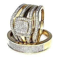 weddings rings gold images Midwest jewellery trio wedding rings set bridal set 3 jpg