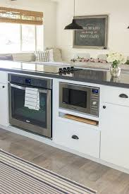 kitchen island microwave the one trick for an infinitely prettier kitchen gas oven oven