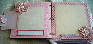 baby scrapbook album scrapbooking by phyllis premade 8x8 paper bag baby girl scrapbook