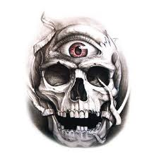 3d skull tattoos for 2 in one package buytra com