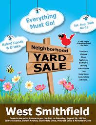 yard sale flyer template word 13 cool garage sale flyers