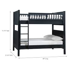 Black Bunk Beds C Bunk Bed Pottery Barn