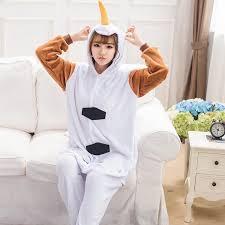 unicorn snowman animal flannel pajamas unisex pyjamas adults