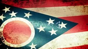 Ohios State Flag Ohio State Flag Waving Grunge Look Royalty Free Video And Stock