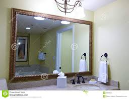 Large Bathroom Mirrors Large Bathroom Mirror Stock Photos Image 6356503