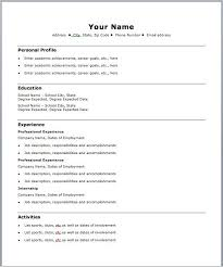 Online Resume Forms by Inspiring Basic Resume Template 36 In Online Resume Builder With