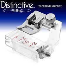amazon com distinctive tape binding sewing machine presser foot