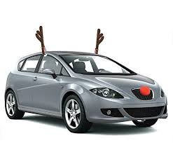 reindeer ears for car spread some cheer with these rudolph the nosed