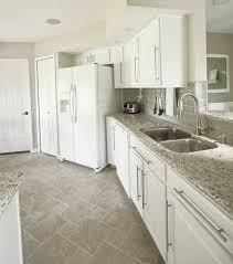 Grey Glass Backsplash by The Big Kitchen Reveal Kashmir Granite White Cabinet Paint Gray