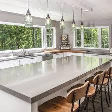 light grey acrylic kitchen cabinets cuisines beauregard contemporary acrylic kitchen project